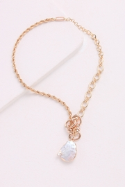 Nakamol Necklace Gold Chain With Pearl Drop - Product Mini Image