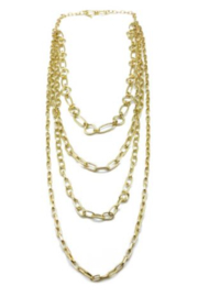 Anju NECKLACE GOLD LAYER CHAIN - Front cropped