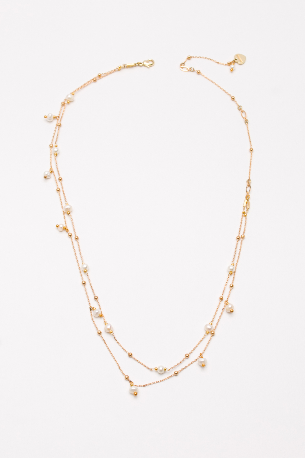 Nakamol  Necklace Long Double With Pearl - Main Image