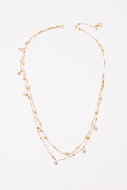 Nakamol  Necklace Long Double With Pearl - Product Mini Image