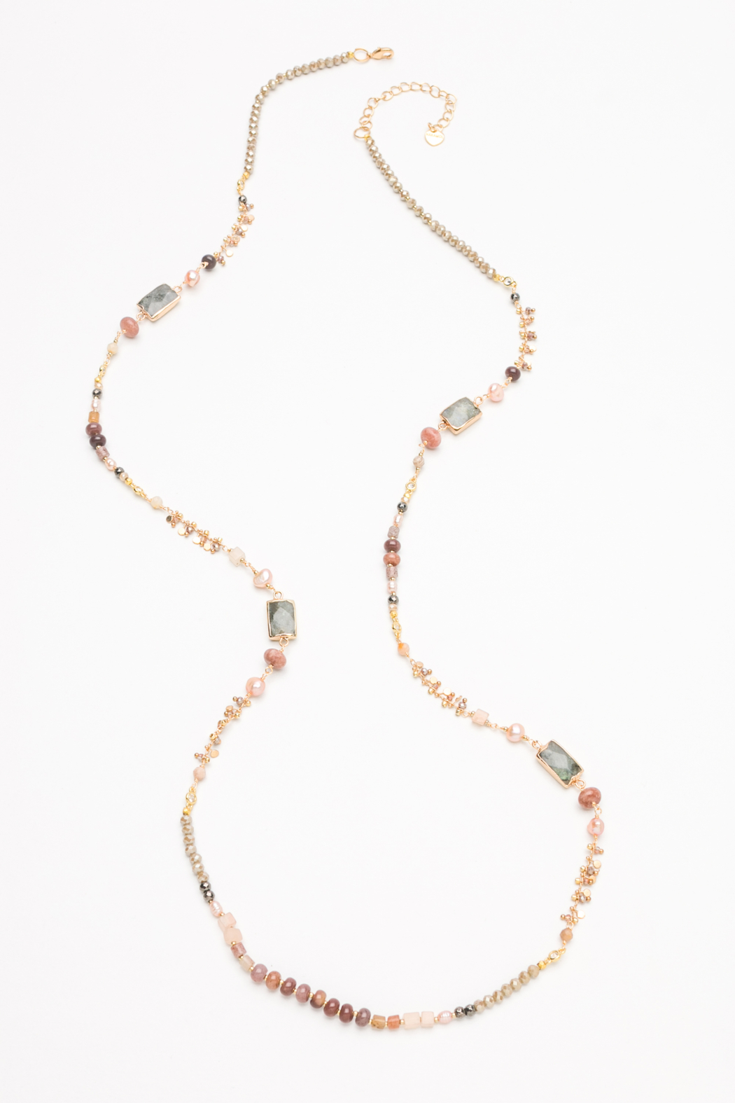 Nakamol Necklace Long Mixed Bead - Front Cropped Image