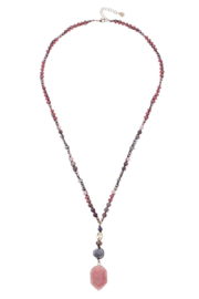Nakamol Necklace Long W/ Stone Drop - Product Mini Image