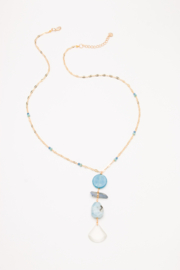 Nakamol Necklace Long  W/ Stone Drops - Product Mini Image