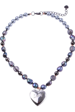 Nakamol Necklace Love With Grey Pearl - Alternate List Image