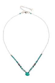 Nakamol Necklace Single Layer With Teardrop - Front cropped