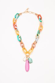 Nakamol  Necklace Statement 3 Drop - Front cropped