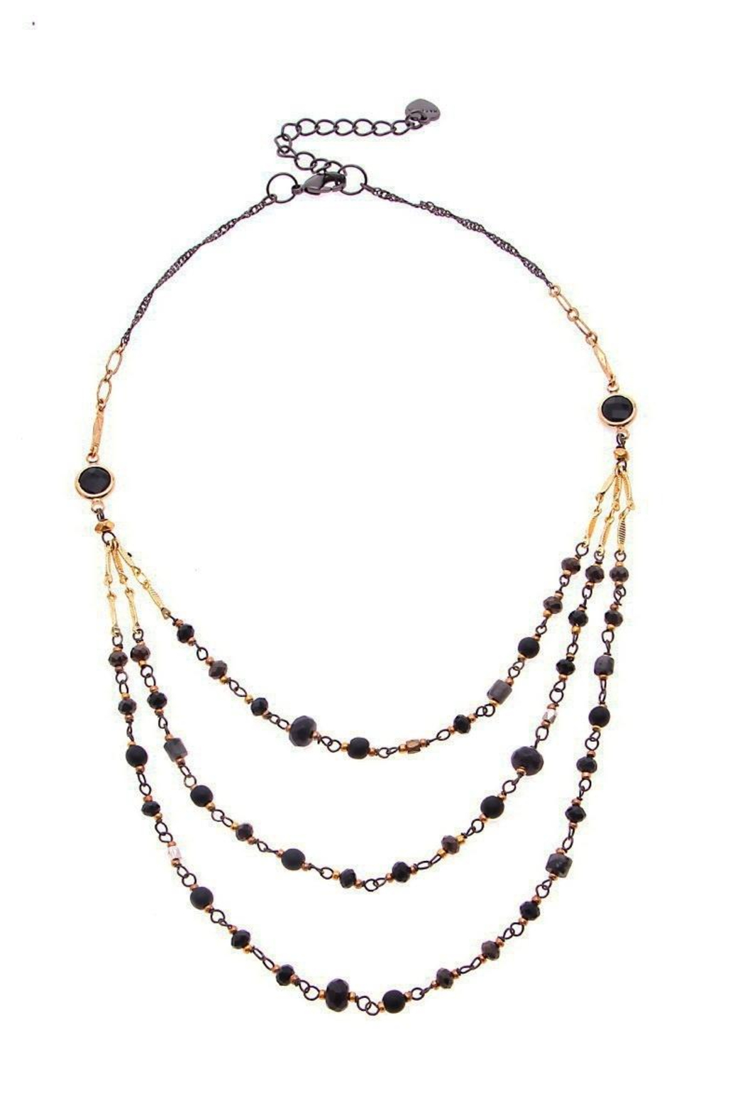 NAKAMOL  Necklace  Triple Beaded Layer - Main Image