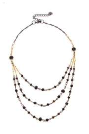 NAKAMOL  Necklace  Triple Beaded Layer - Front cropped