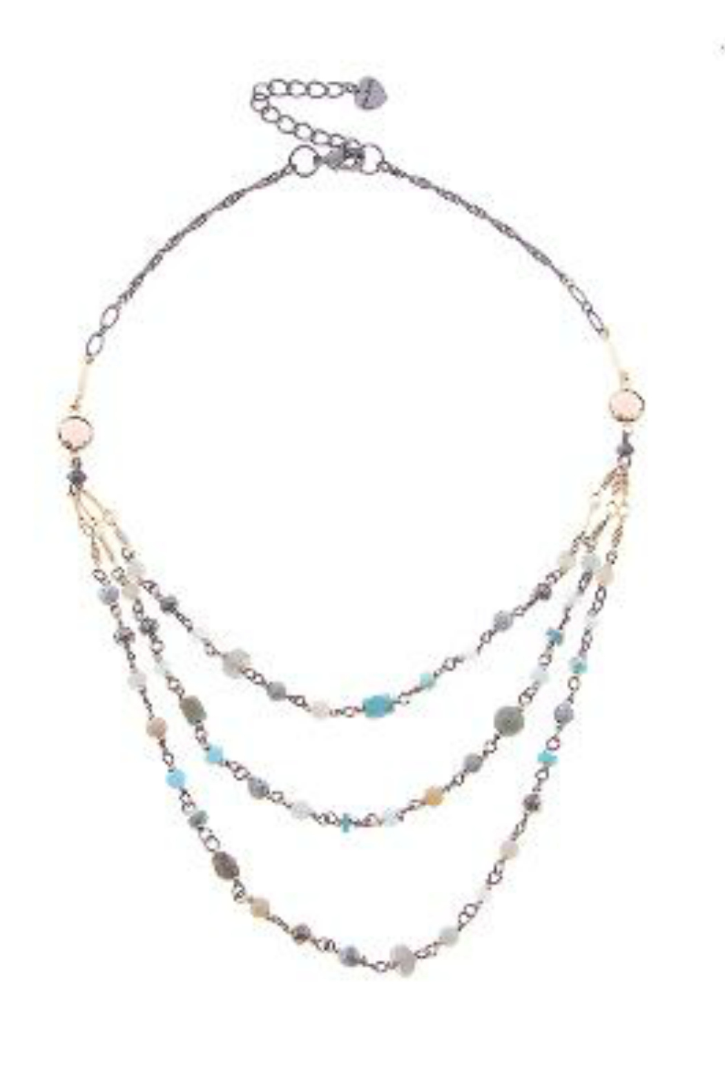 NAKAMOL  Necklace  Triple Beaded Layer - Front Cropped Image