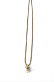 LJ Sonder  Necklace with Dainty Wire Wrapped Pearl - Product Mini Image