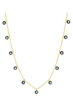 Shoptiques Product: Necklace with Evil Eye Dangles