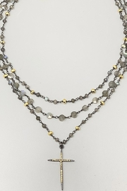 Melania Clara  Necklace with labradorite and pyrite - Product Mini Image