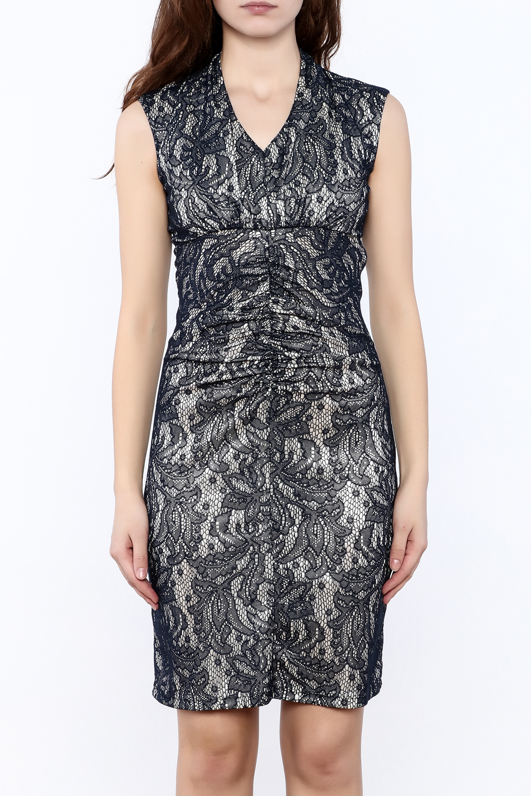 Neda Lace Bodycon Dress - Side Cropped Image