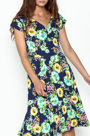 Neda Surplice Flare Dress - Front cropped