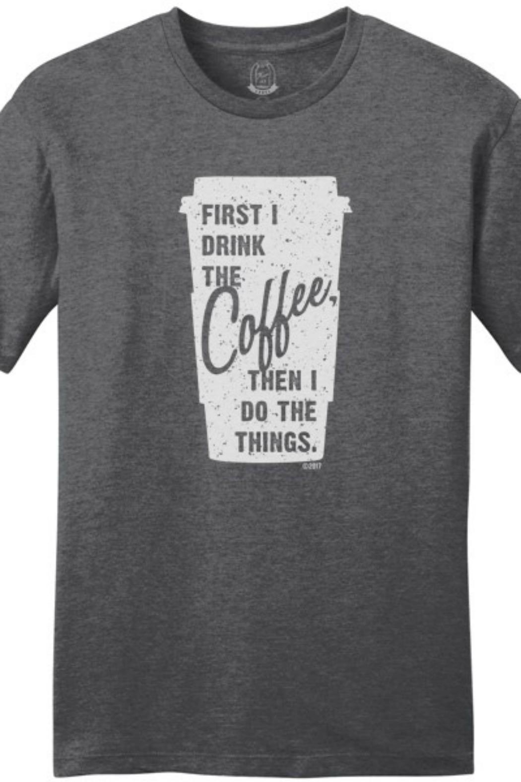 Mason Jar Label Coffee T-Shirt - Front Cropped Image