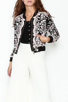 Needle & Thread Prairie Embroidered Bomber - Product List Image