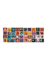 galison Needlepoint A to Z 1000 Piece Panoramic Puzzle - Product Mini Image