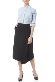 Neesh by D.A.R. Asymmetrical Midi Skirt - Front full body
