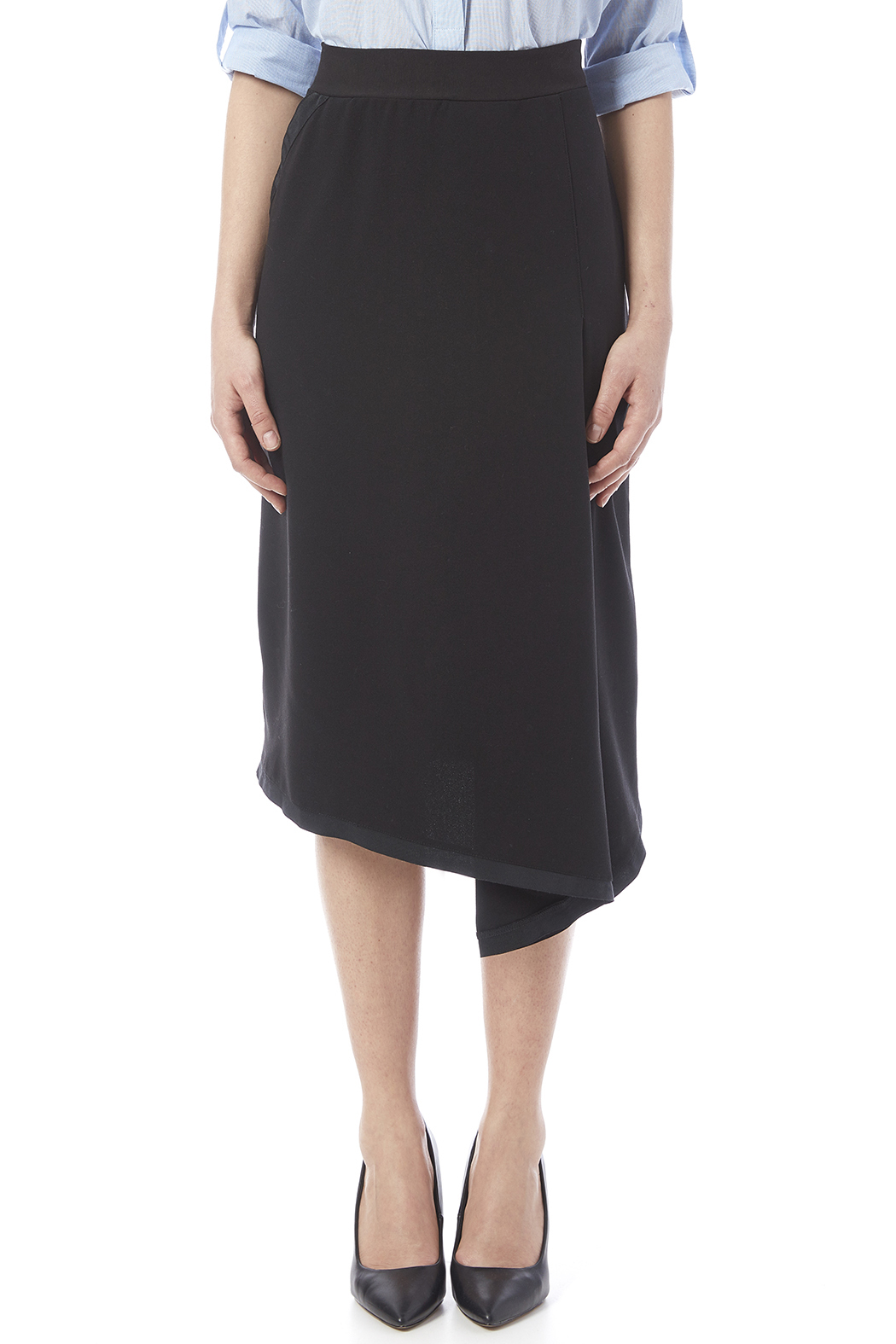 Neesh by D.A.R. Asymmetrical Midi Skirt - Side Cropped Image