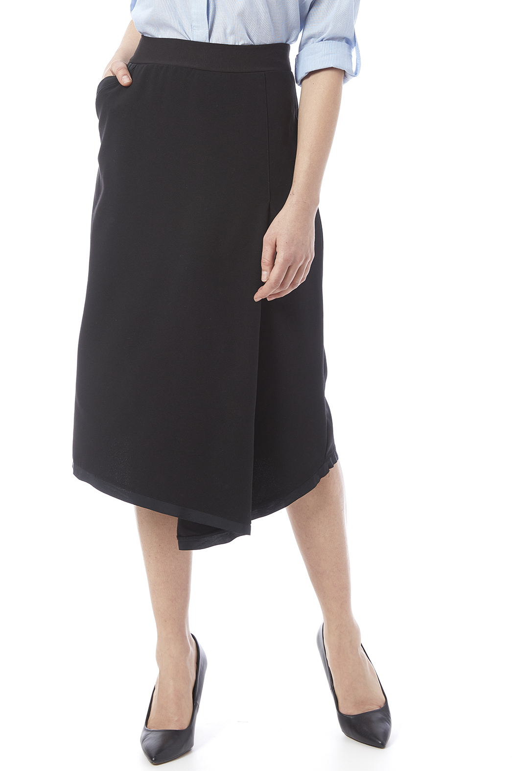 Neesh by D.A.R. Asymmetrical Midi Skirt - Main Image