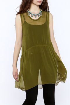 Shoptiques Product: Green Sleeveless Tunic Top