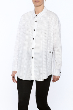 Shoptiques Product: Loose Fit Polkadot Shirt