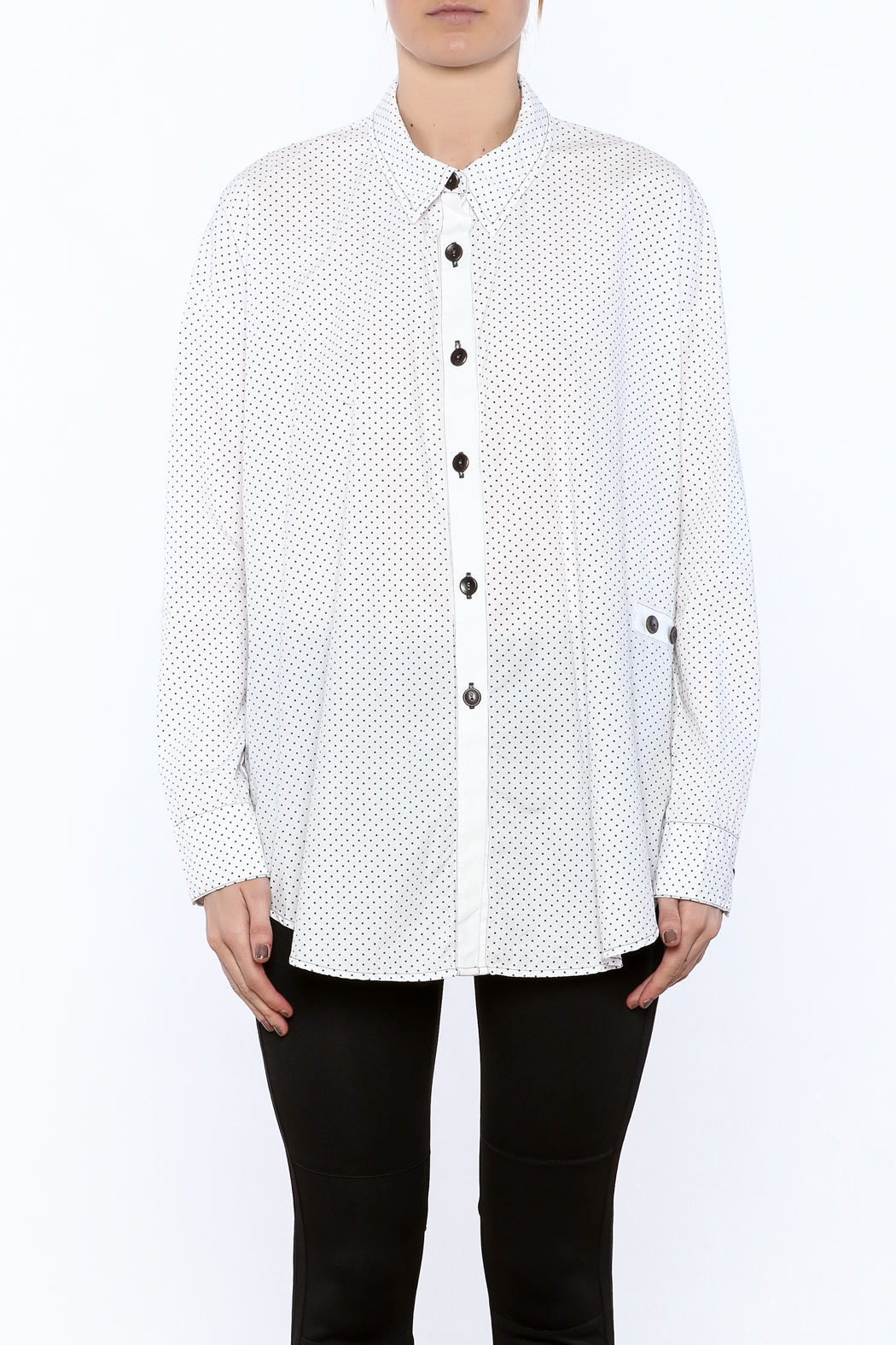 Neesh by D.A.R. Loose Fit Polkadot Shirt - Side Cropped Image
