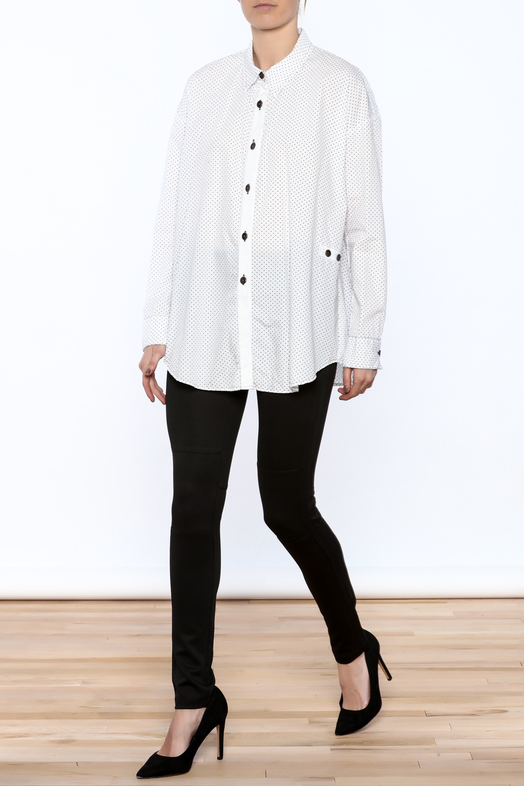 Neesh by D.A.R. Loose Fit Polkadot Shirt - Front Full Image