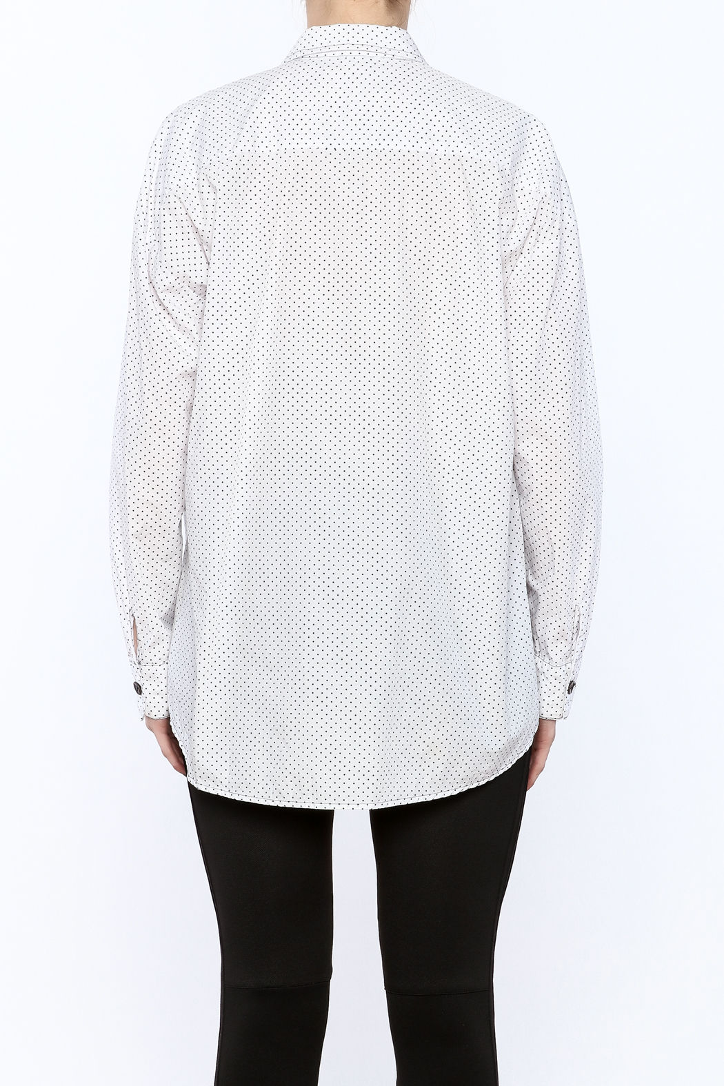 Neesh by D.A.R. Loose Fit Polkadot Shirt - Back Cropped Image
