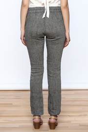 Neesh by D.A.R. Pinstripe Linen Pants - Back cropped