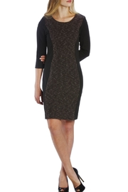 Neesha Black Patterned Dress - Front cropped