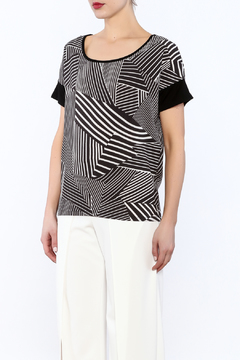 Shoptiques Product: Black And White Striped Top