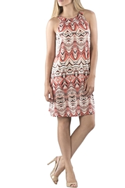 Neesha Printed Tieback Dress - Product Mini Image