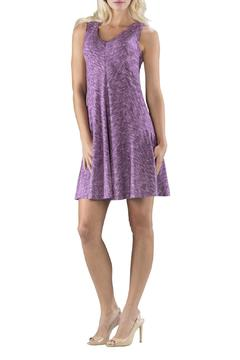 Shoptiques Product: Purple Silky Dress