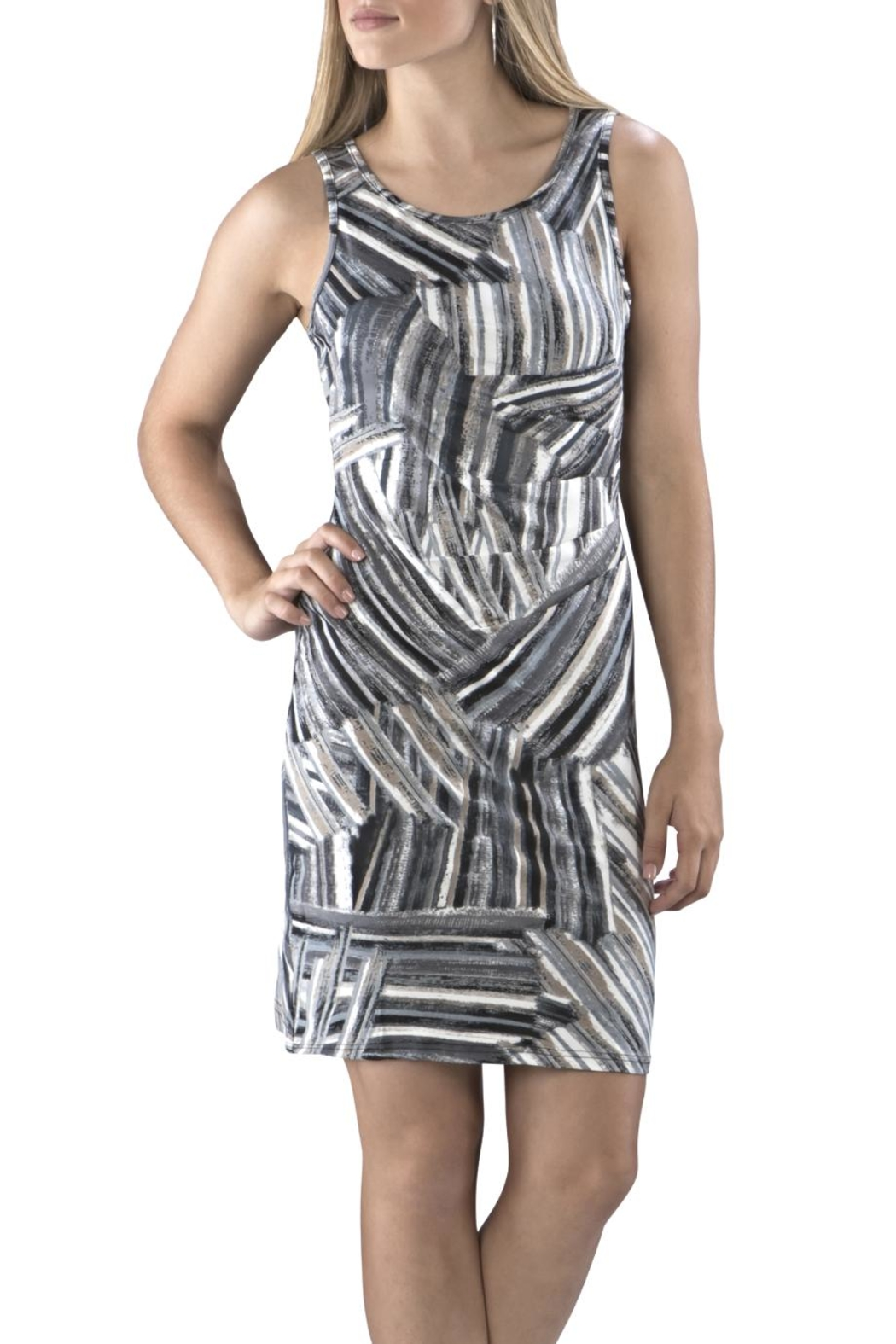 Neesha Rouched Swirl Dress - Front Cropped Image