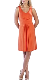 Neesha Sleeveless Tangerine Dress - Product Mini Image