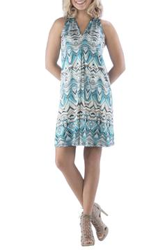 Shoptiques Product: Turquoise Patterned Dress