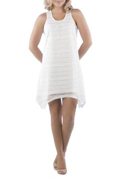 Shoptiques Product: White Lined Dress