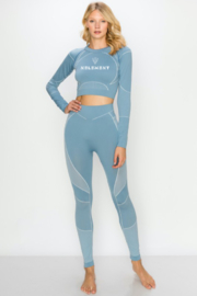 NELEMENT X KIMBERLY C. Long Sleeve Crop Top Set - Product Mini Image