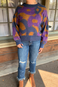 FRNCH Neliane Abstract Sweater - Product List Image