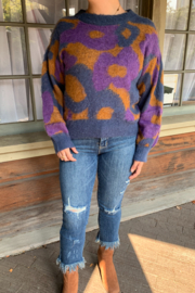 FRNCH Neliane Abstract Sweater - Product Mini Image