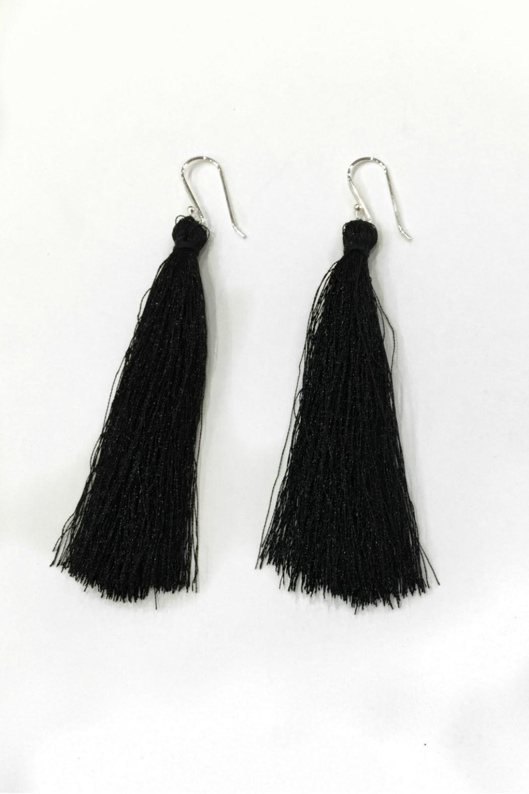 Nelli and Mo Long Tassel Earrings - Main Image