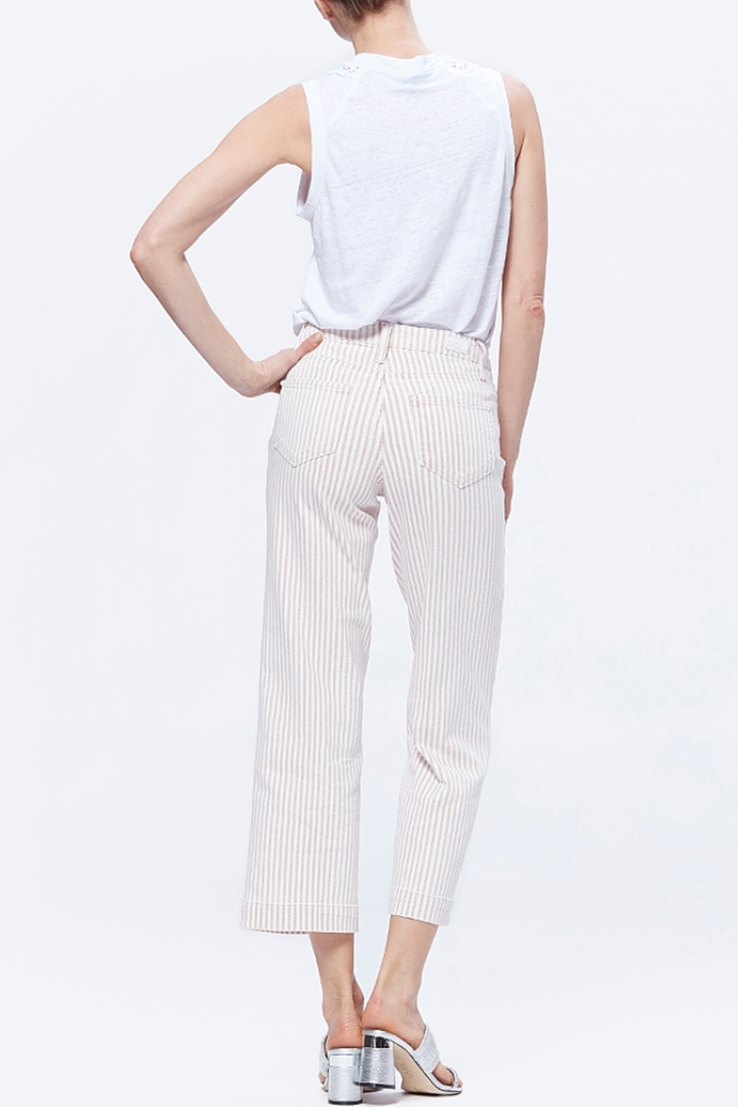 Paige Nellie Culotte - Blossom Pink Stripe - Back Cropped Image