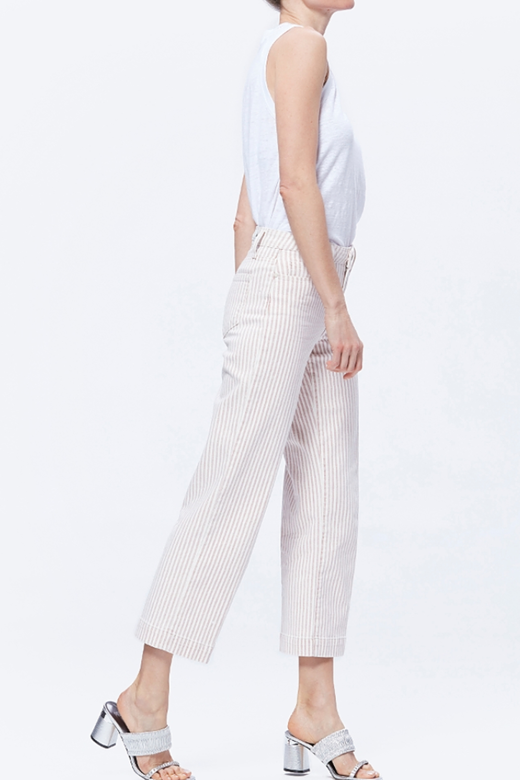 Paige Nellie Culotte - Blossom Pink Stripe - Side Cropped Image