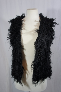 Shoptiques Product: Black Fur Vest