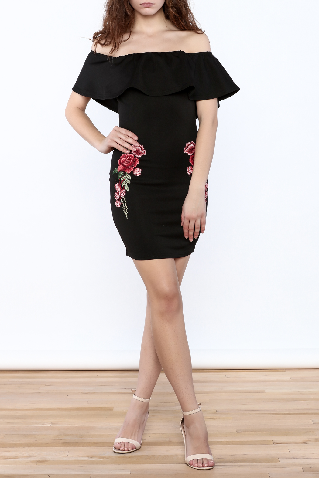 Nellis rose embroidered dress from manhattan by dor l
