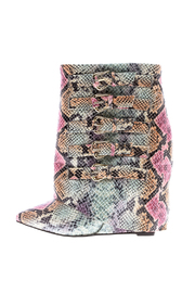 Nelly B Snake Print Booties - Product Mini Image
