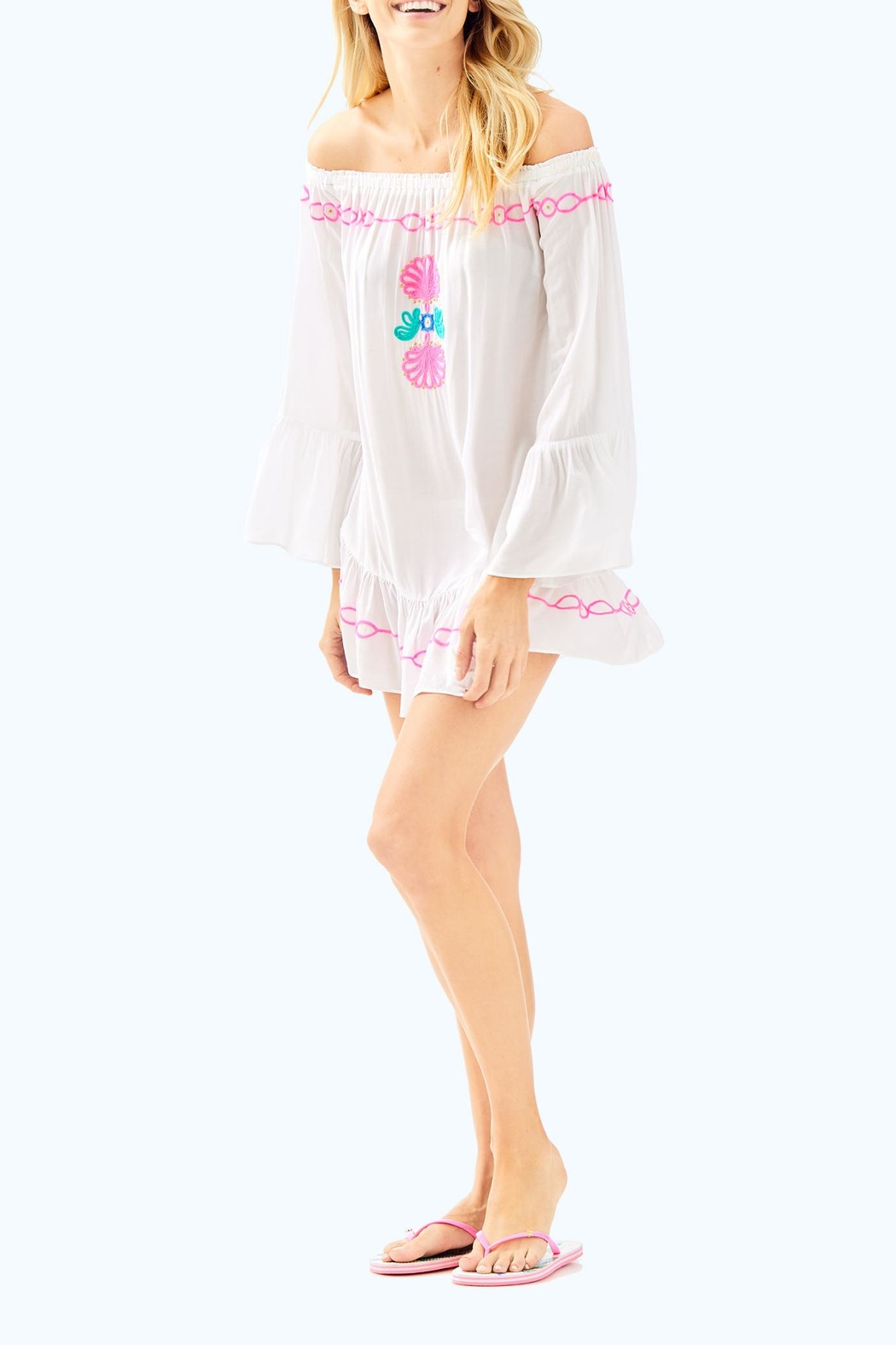 Lilly Pulitzer Nemi Cover Up - Back Cropped Image