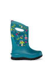 bogs  Neo-Classic Mushrooms Waterproof Insulated Boots - Teal Multi - Product Mini Image