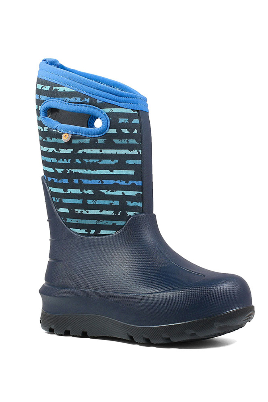 BOGS Neo-Classic Stripe Kids' Insulated Boots - Front Full Image